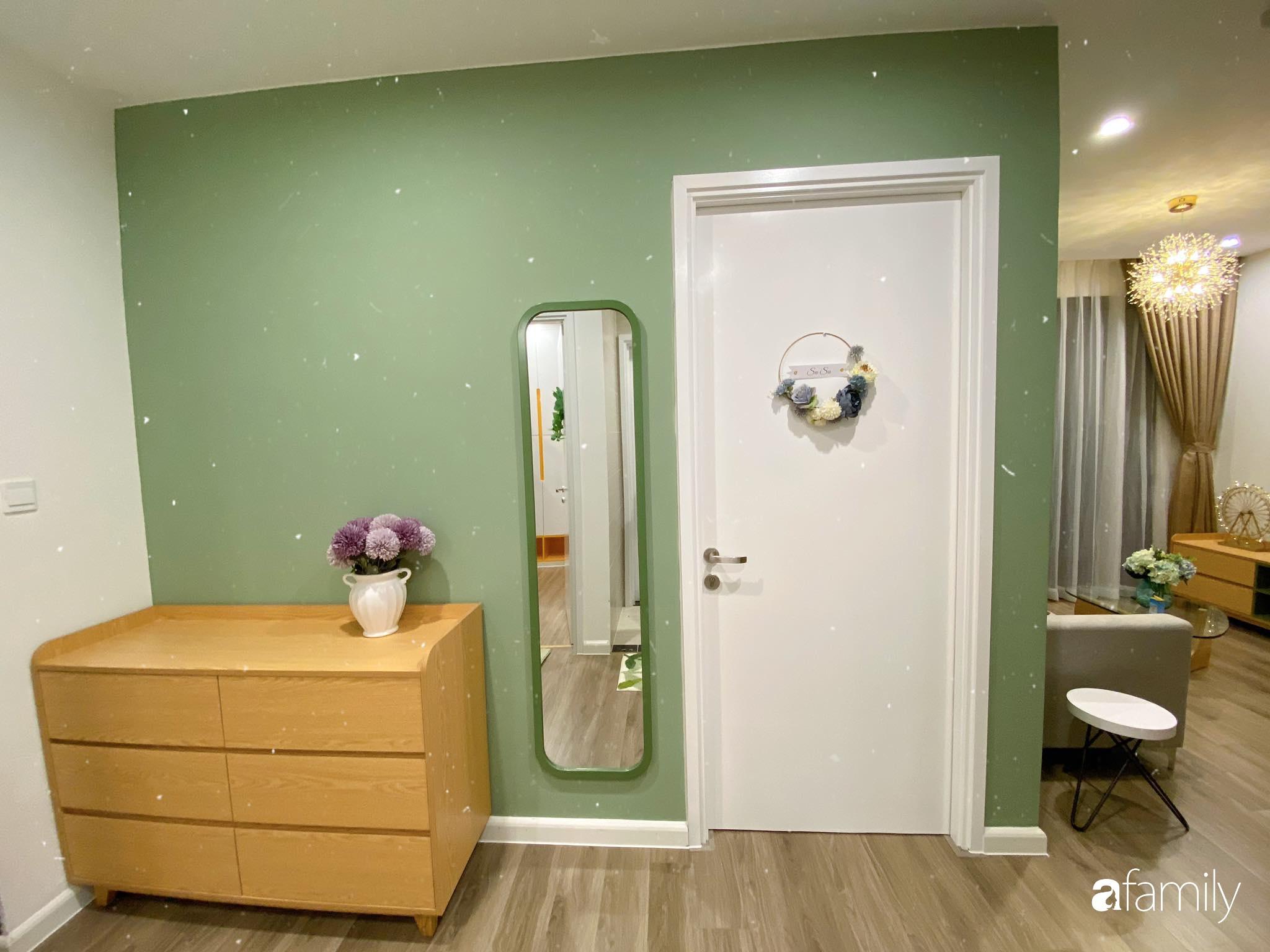 Căn hộ 59m² màu xanh lá xua tan nóng bức mùa hè có chi phí hoàn thiện 225 triệu đồng ở Hà Nội - Ảnh 5.