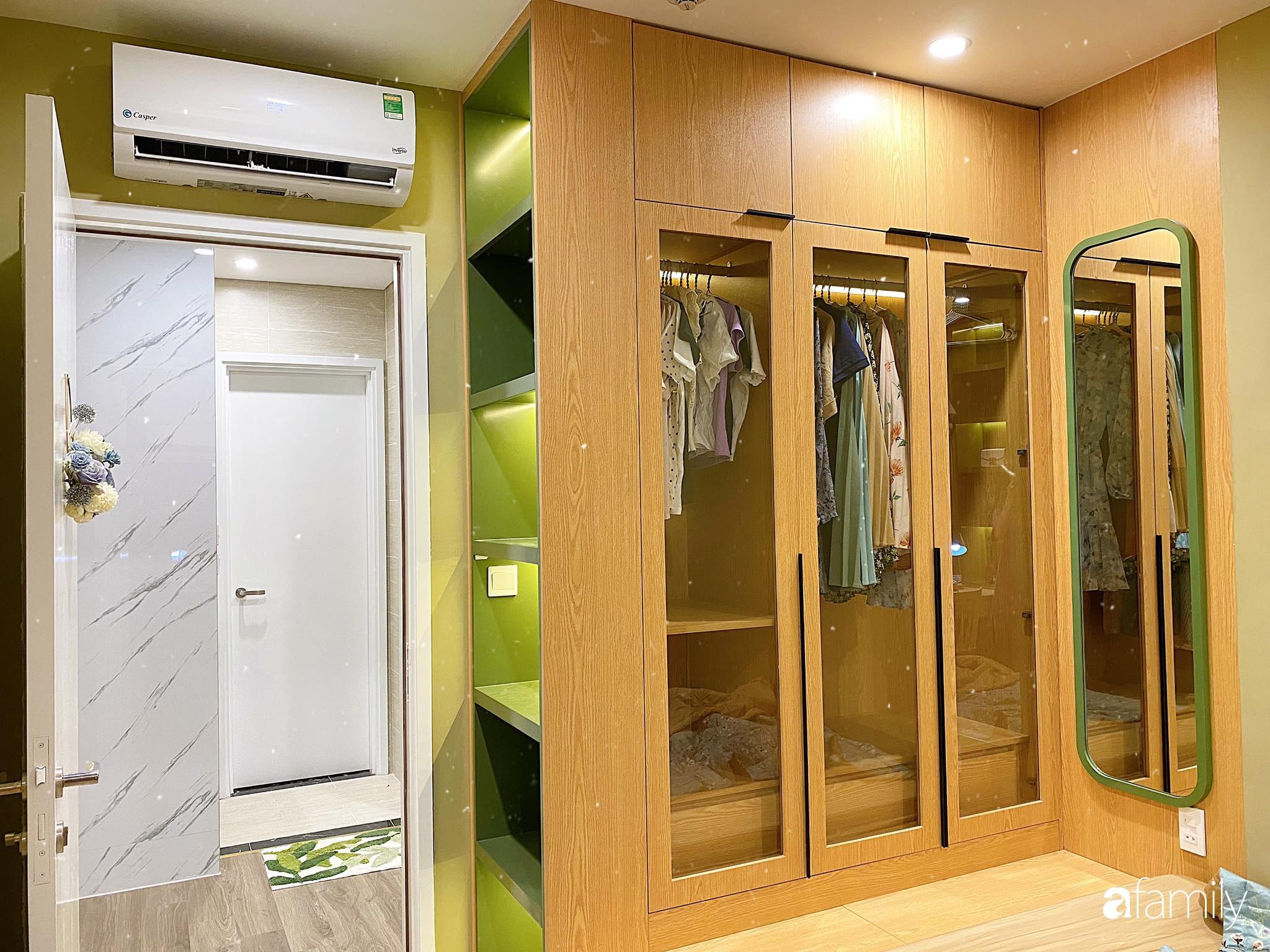 Căn hộ 59m² màu xanh lá xua tan nóng bức mùa hè có chi phí hoàn thiện 225 triệu đồng ở Hà Nội - Ảnh 15.
