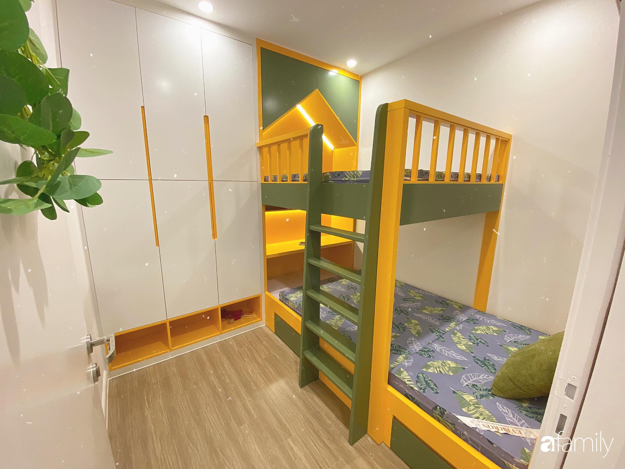 Căn hộ 59m² màu xanh lá xua tan nóng bức mùa hè có chi phí hoàn thiện 225 triệu đồng ở Hà Nội - Ảnh 19.