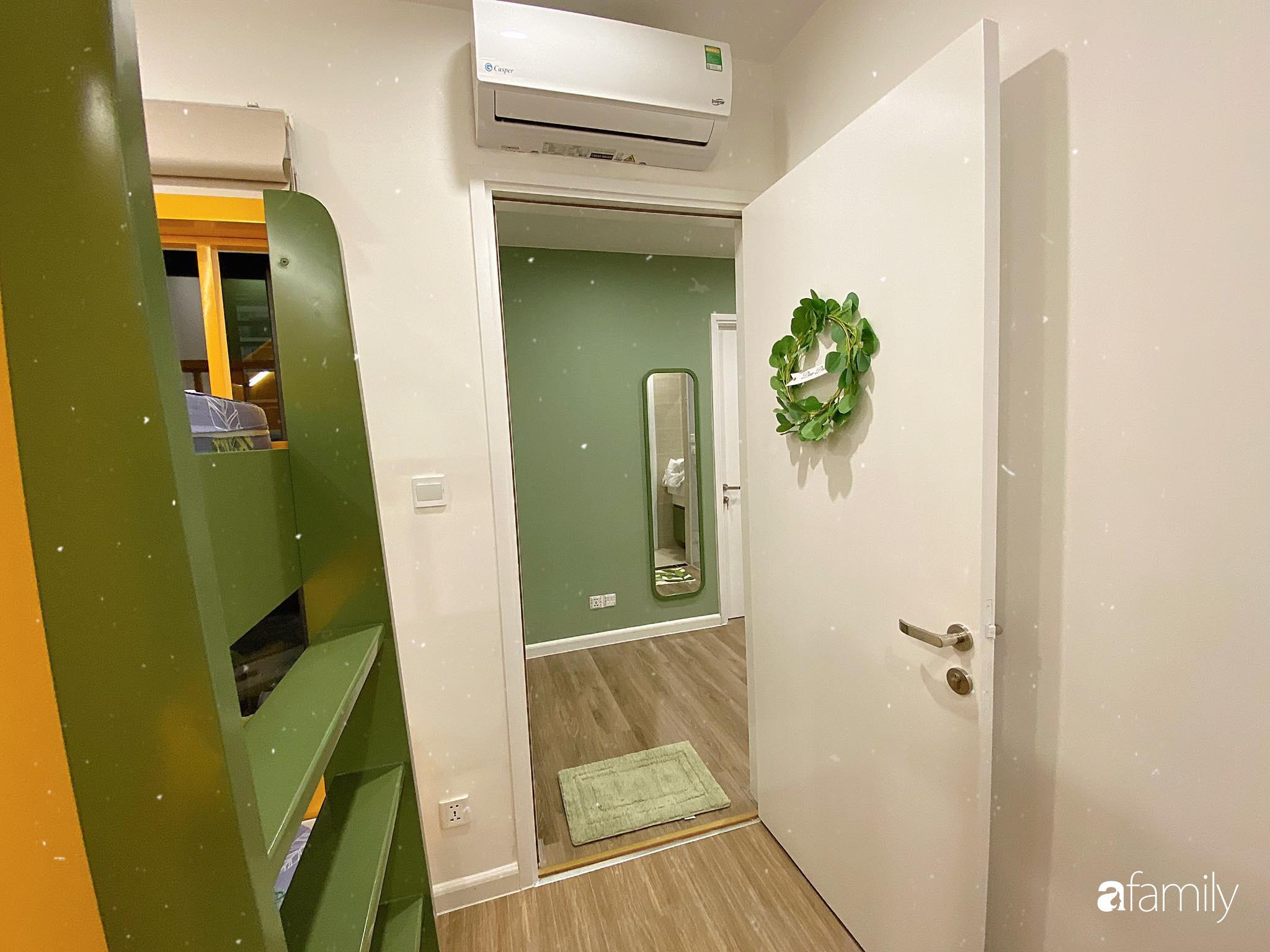 Căn hộ 59m² màu xanh lá xua tan nóng bức mùa hè có chi phí hoàn thiện 225 triệu đồng ở Hà Nội - Ảnh 20.