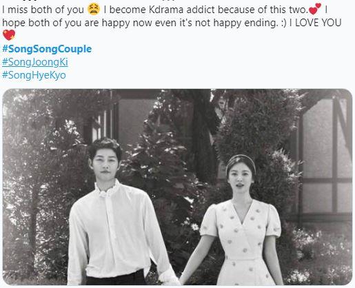 Tròn 1 năm kể từ ngày tòa án công bố Song Hye Kyo - Song Joong Ki chính thức hoàn tất thủ tục ly hôn fan hâm mộ lại đồng loạt kêu gọi điều này  - Ảnh 1.