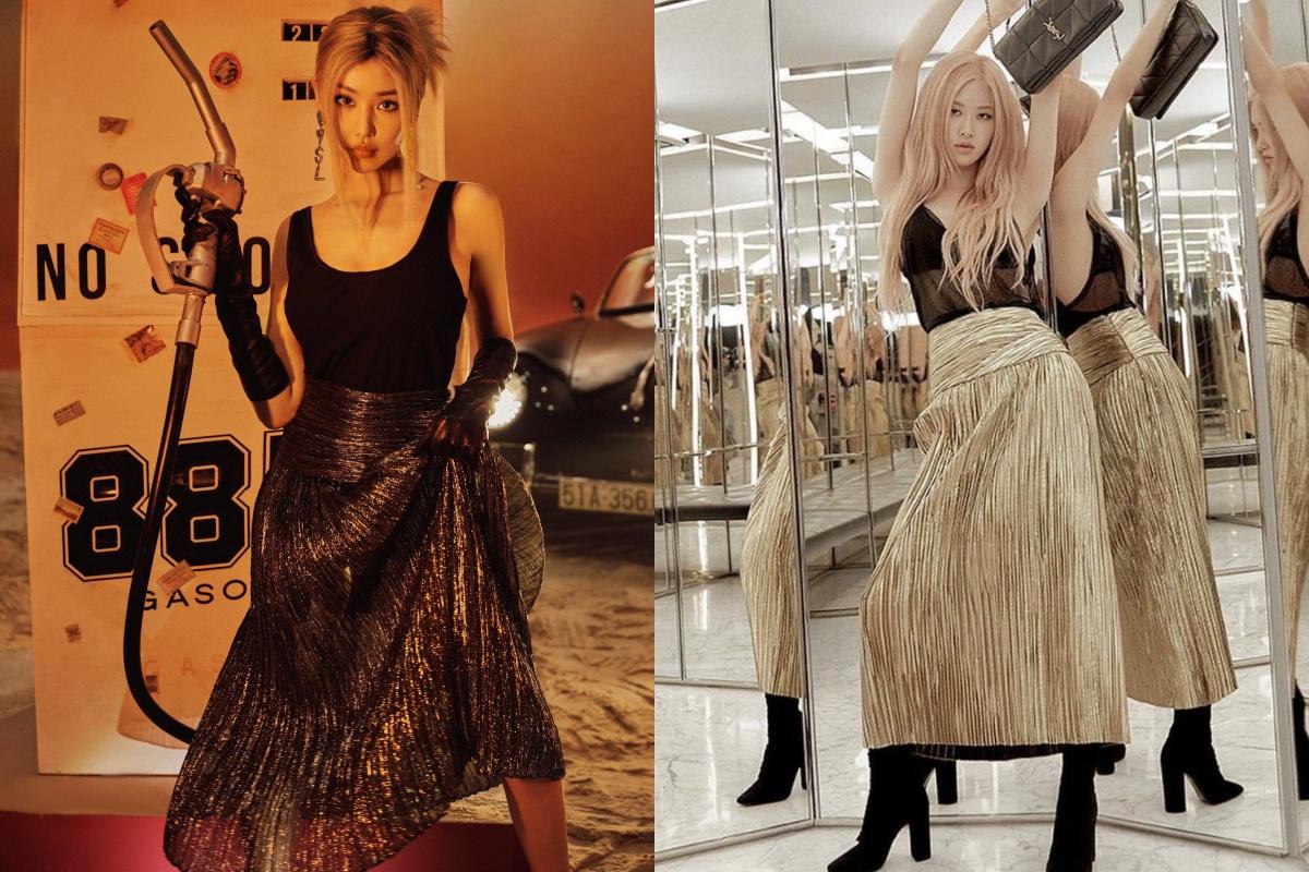 Hẳn phải mê Rosé (Black Pink) nhiều lắm nên Min mới cosplay từ trang phục, tóc tai đến biểu cảm thế này - Ảnh 3.