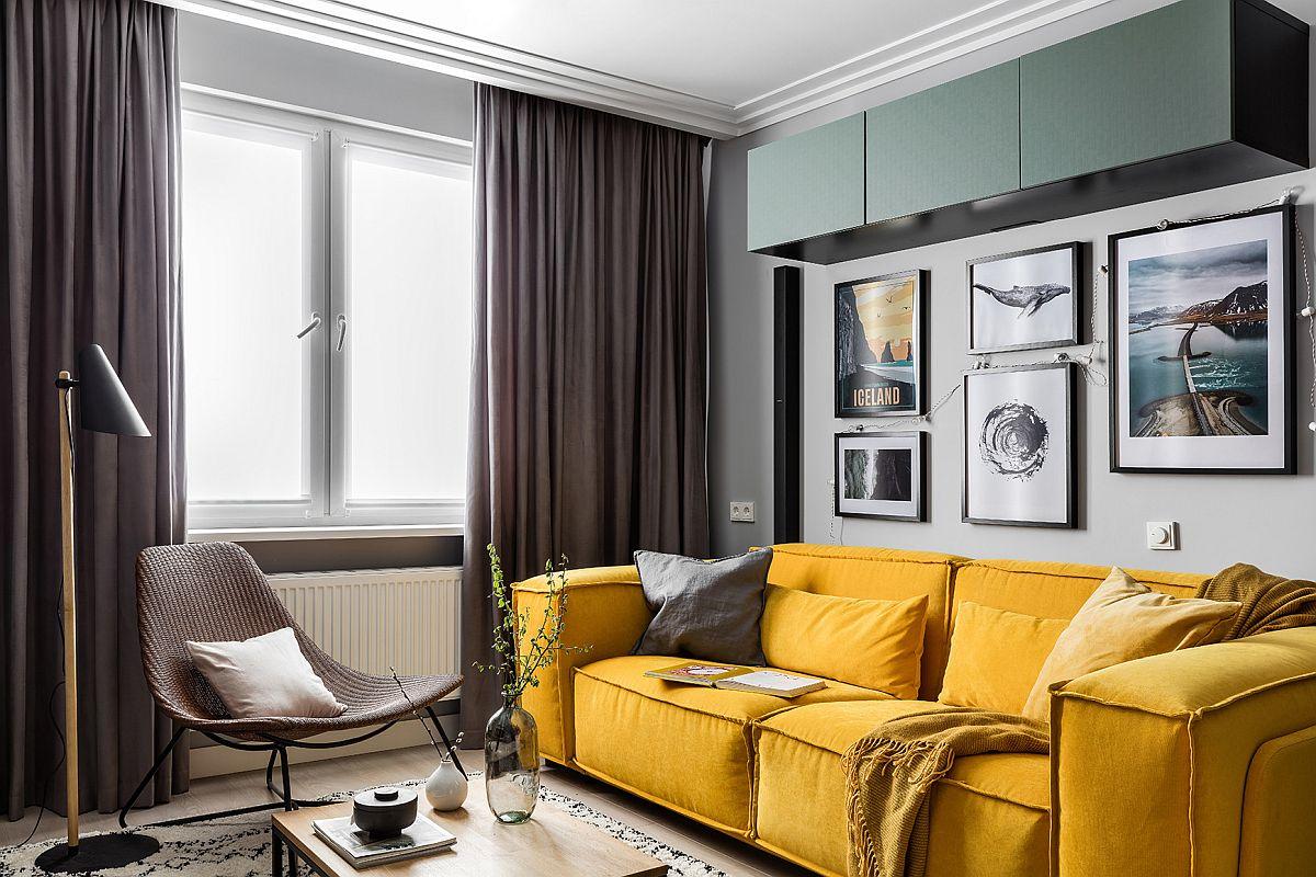 Phòng khách nhỏ xíu vẫn đẹp hoàn hảo nhờ kinh nghiệm lựa chọn sofa phù hợp - Ảnh 1.