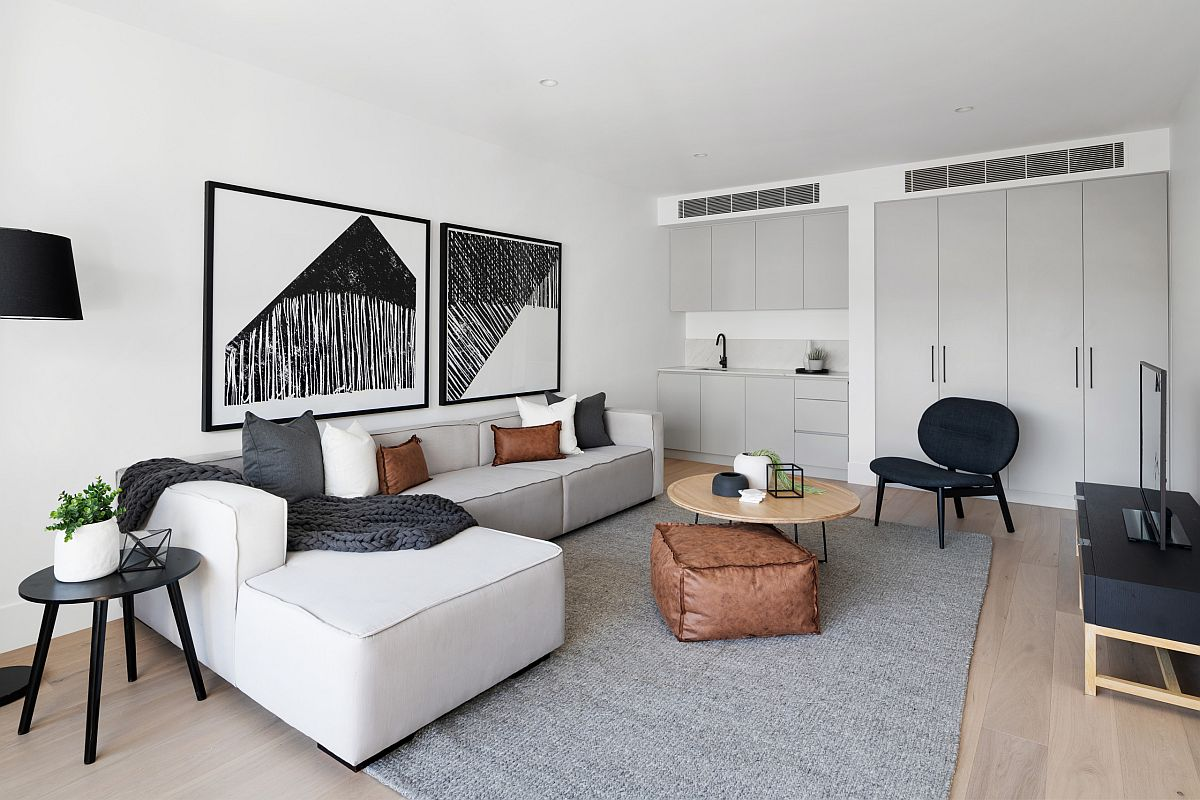 Phòng khách nhỏ xíu vẫn đẹp hoàn hảo nhờ kinh nghiệm lựa chọn sofa phù hợp - Ảnh 9.