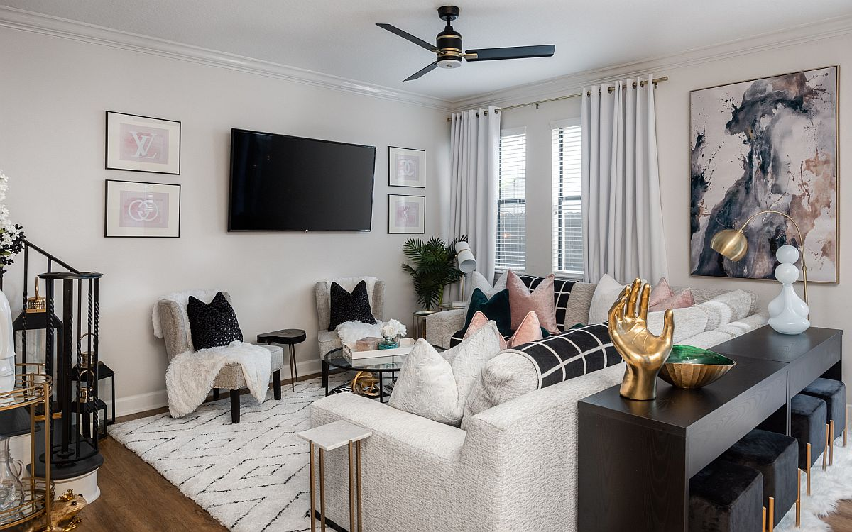 Phòng khách nhỏ xíu vẫn đẹp hoàn hảo nhờ kinh nghiệm lựa chọn sofa phù hợp - Ảnh 6.