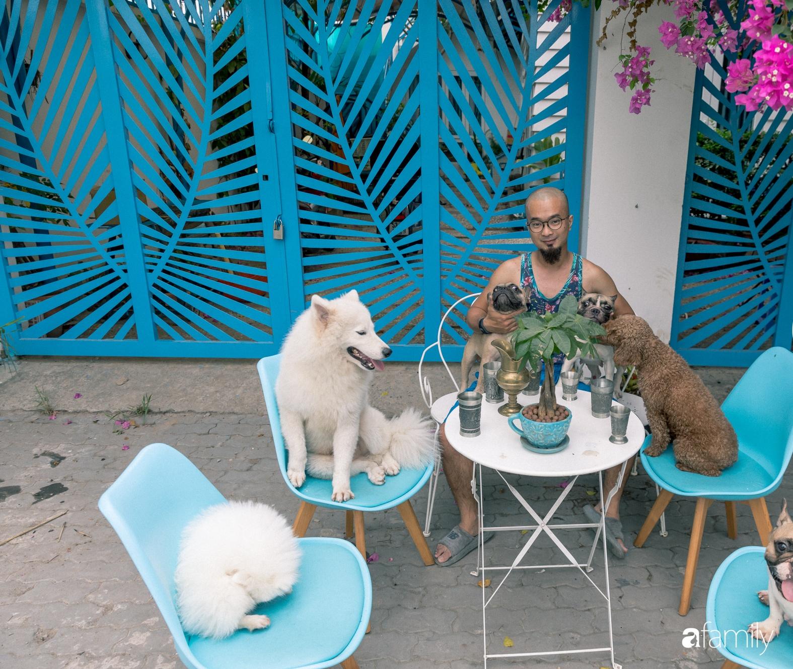 Khu vườn trước nhà xanh mát bóng cây và hoa của anh chàng dành cả thanh xuân để chăm sóc thú cưng - Ảnh 1.
