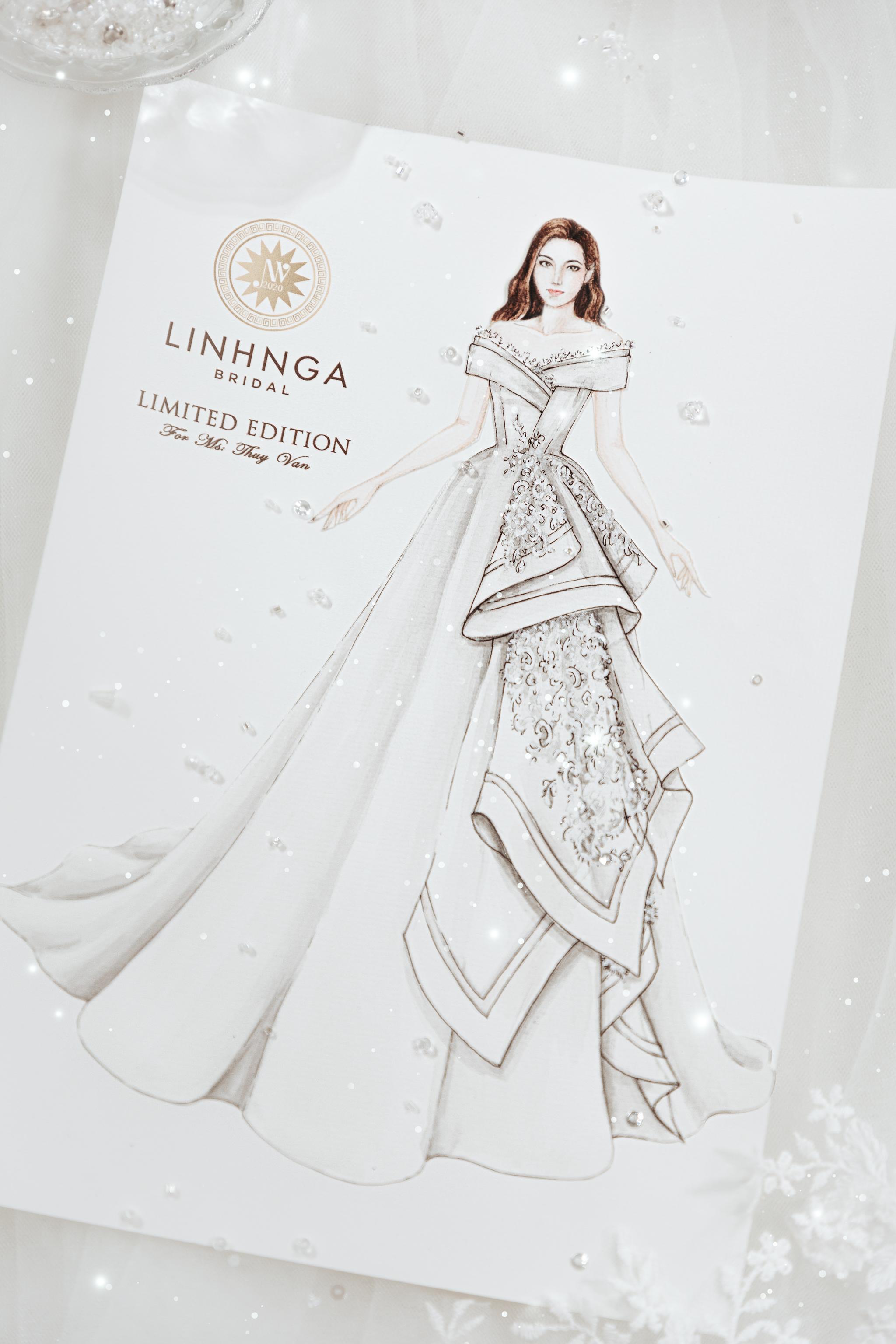 Trước giờ G, ngắm nhìn 1 trong 3 chiếc váy cưới của Á hậu Thúy Vân: Lộng lẫy chuẩn váy cưới của mọi cô gái. - Ảnh 1.