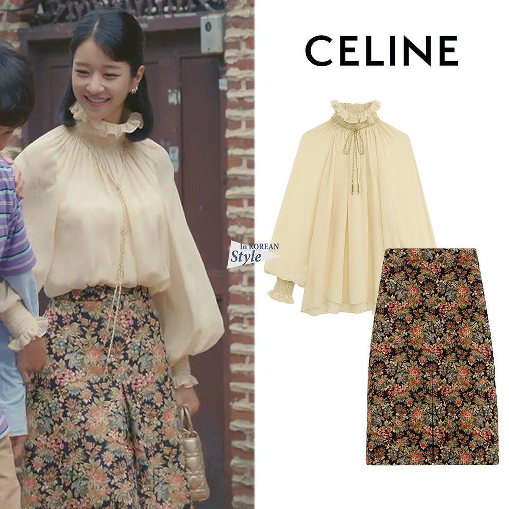 """Cùng diện áo blouse bánh bèo: Lisa """"dừ"""" hơn bình thường, Seo Ye Ji dịu dàng sang chảnh  - Ảnh 4."""