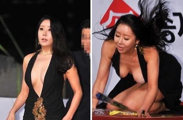 """Mỹ nhân Hàn và những pha hớ hênh khiến người xem """"đỏ mặt"""": Người lộ nguyên vòng 3, kẻ để cho vòng 1 như muốn rớt ra ngoài - Ảnh 2."""