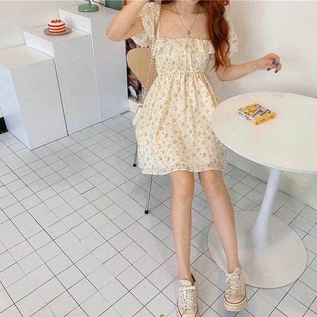 """Váy hoa cổ vuông vừa nữ tính vừa sexy hot rần rần: Ngọc Trinh, Seohyun đều diện, team """"bánh bèo"""" chớ bỏ qua - Ảnh 4."""