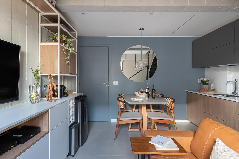 Căn hộ 44m² với tông màu gỗ xám đẹp vượt thời gian ai ngắm cũng mê - Ảnh 5.