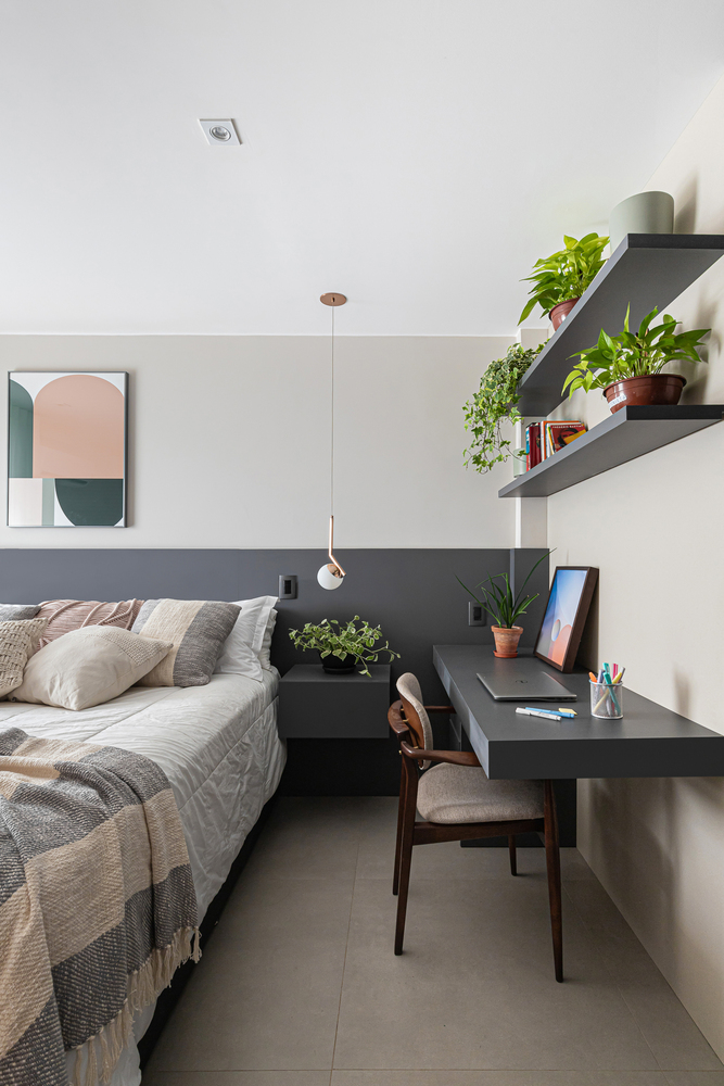 Căn hộ 44m² với tông màu gỗ xám đẹp vượt thời gian ai ngắm cũng mê - Ảnh 11.