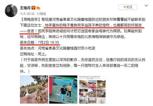 Vụ việc Vương Lạc Đan tìm vịt đã lên vị trí no.1 hotsearch Weibo.