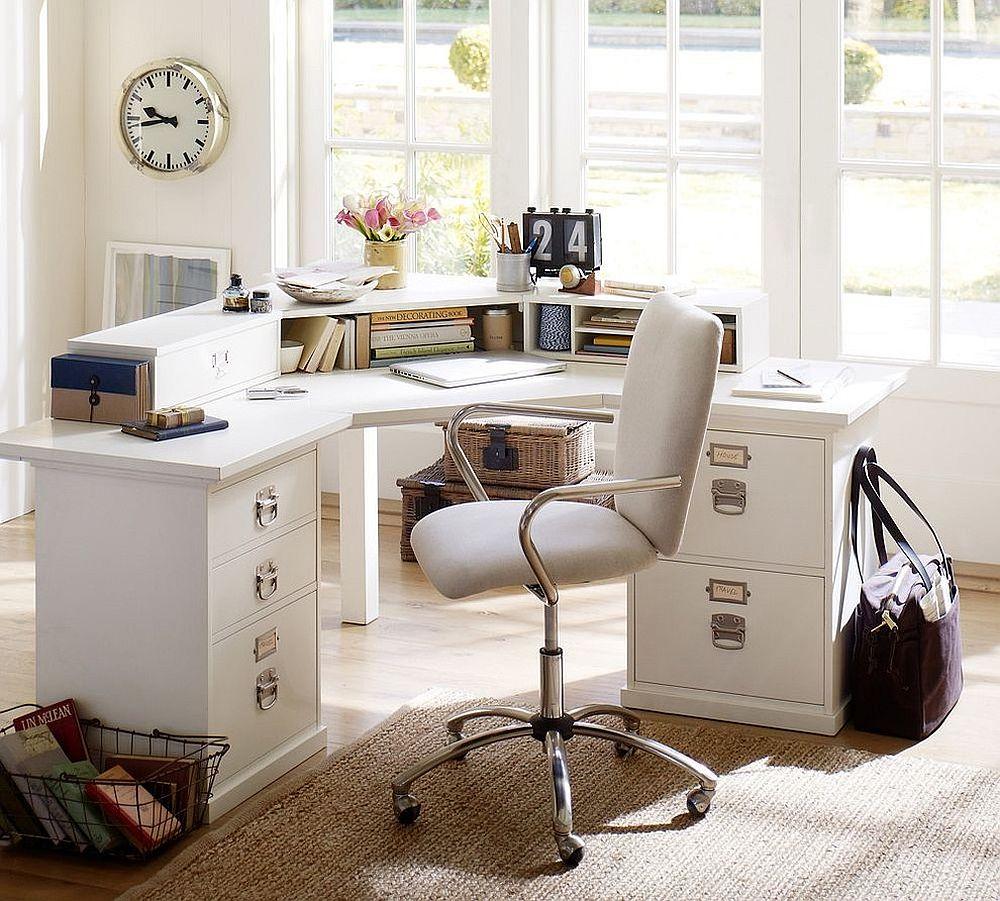 Những lý do vô cùng thuyết phục để bạn lựa chọn gam màu trắng đẹp hoàn hảo cho góc làm việc tại nhà - Ảnh 1.