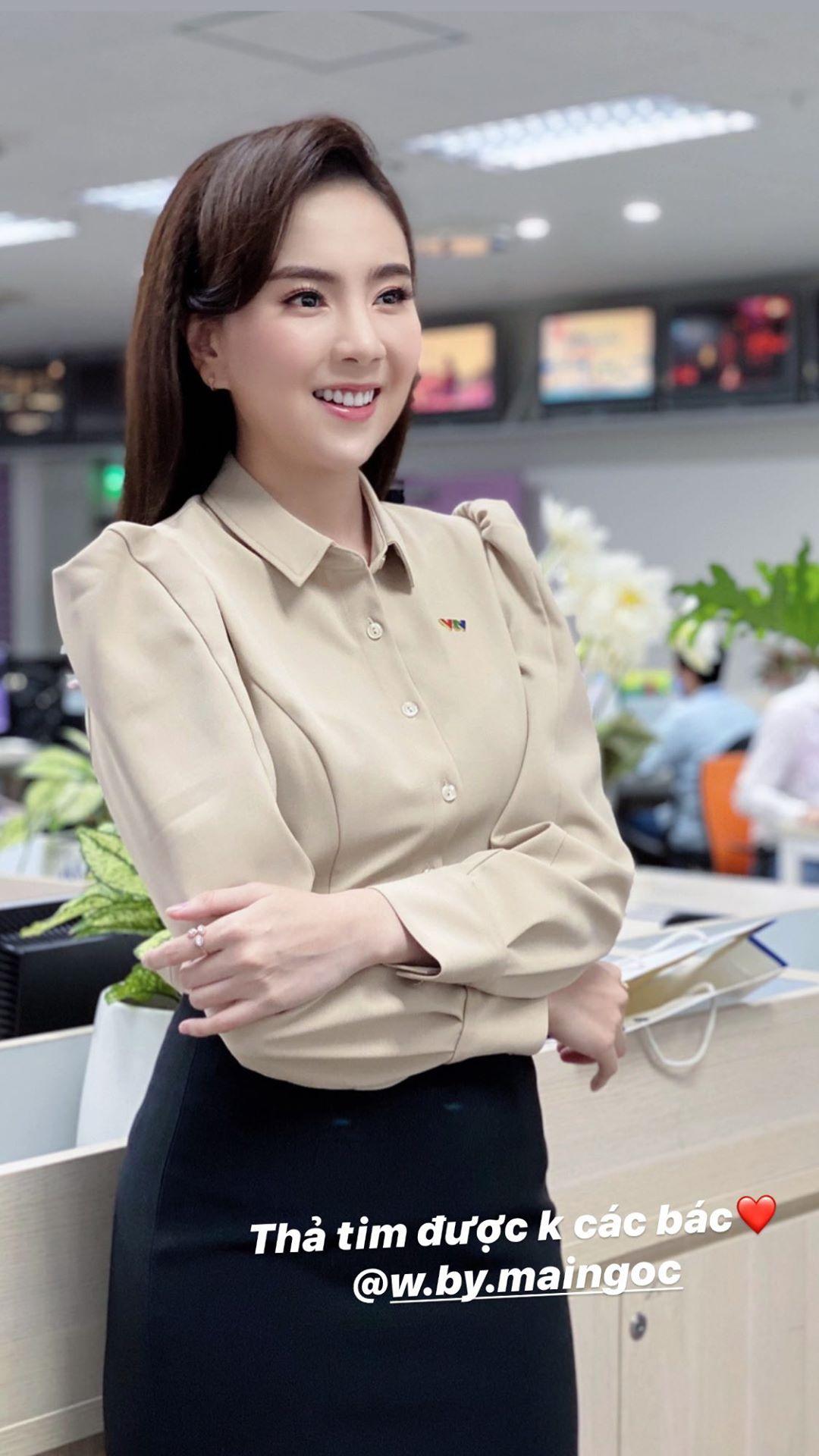 """MC Mai Ngọc cũng u mê Seo Ye Ji """"không lối thoát"""", lên đồ giống hệt mỹ nhân Hàn để diện đến sở làm - Ảnh 3."""