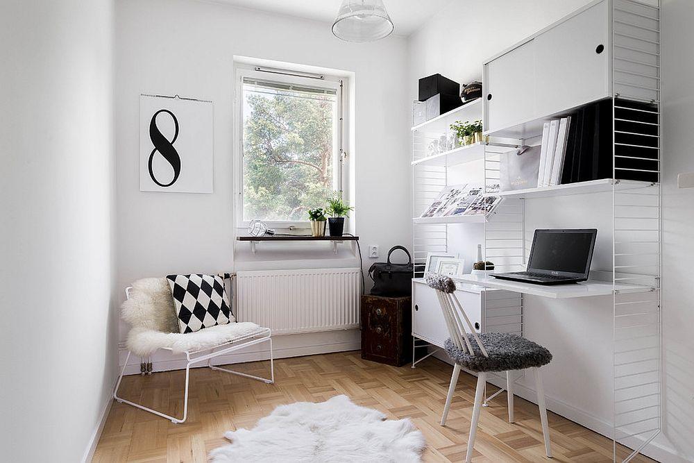 Những lý do vô cùng thuyết phục để bạn lựa chọn gam màu trắng đẹp hoàn hảo cho góc làm việc tại nhà - Ảnh 14.