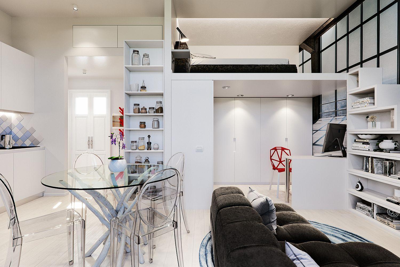 Căn hộ 29m² màu trắng siêu tiết kiệm không gian với góc view cực chất ai ngắm cũng muốn sở hữu ngay - Ảnh 9.