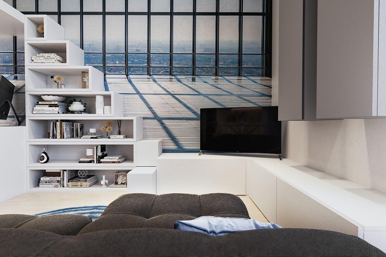 Căn hộ 29m² màu trắng siêu tiết kiệm không gian với góc view cực chất ai ngắm cũng muốn sở hữu ngay - Ảnh 5.