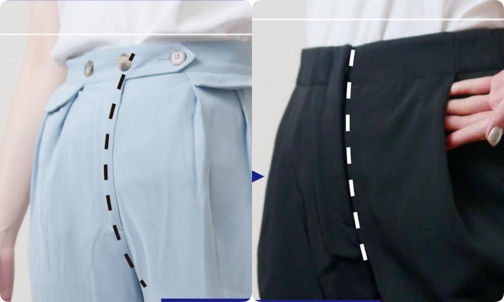 Không phải ai cũng biết: Một chi tiết rất nhỏ của quần vải cạp cao lại khiến phần bụng dưới lộ rõ mồn một - Ảnh 5.