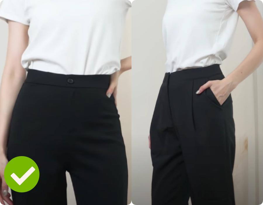 Một chi tiết rất nhỏ của quần cạp cao lại khiến phần bụng dưới lộ rõ mồn một - Ảnh 3.