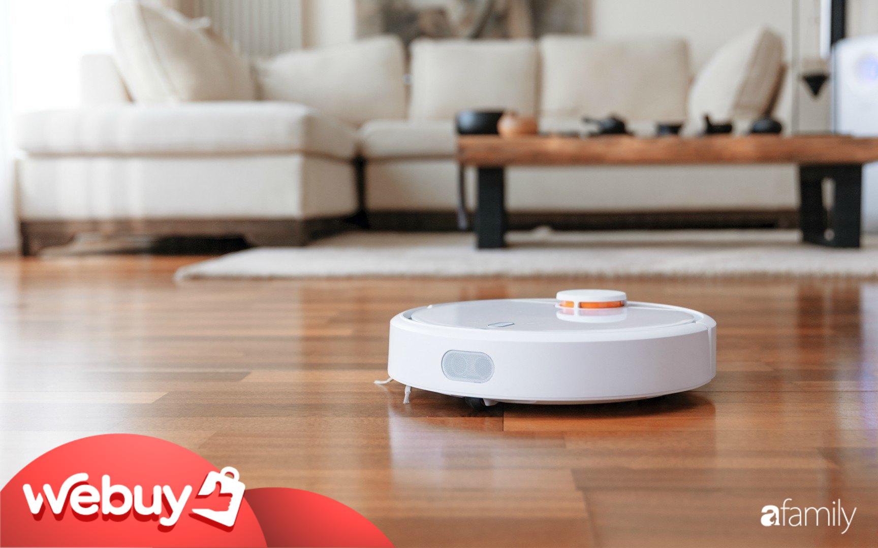 Các mẹ bỉm sữa muốn việc nhà trở nên nhàn tênh thì sắm ngay những chiếc robot hút bụi thông minh này