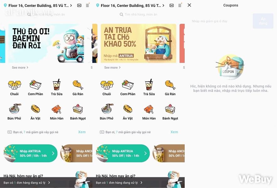 """Trải nghiệm 1 ngày 3 bữa với app gọi đồ ăn Baemin ở Hà Nội: Ngon có, dở có, lỗi còn nhiều nhưng quan trọng vẫn là cả """"rổ"""" khuyến mãi - Ảnh 3."""