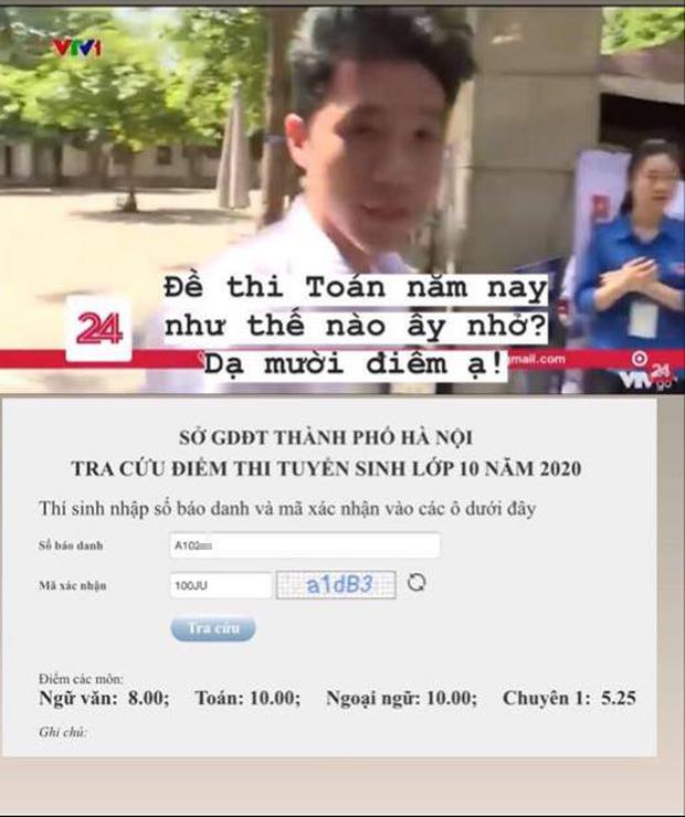 Nam sinh mạnh dạn tuyên bố đạt 10 điểm Toán khi được VTV phỏng vấn, ai cũng nghĩ là đùa cho đến khi tra kết quả mới té ngửa vì quá bất ngờ - Ảnh 2.