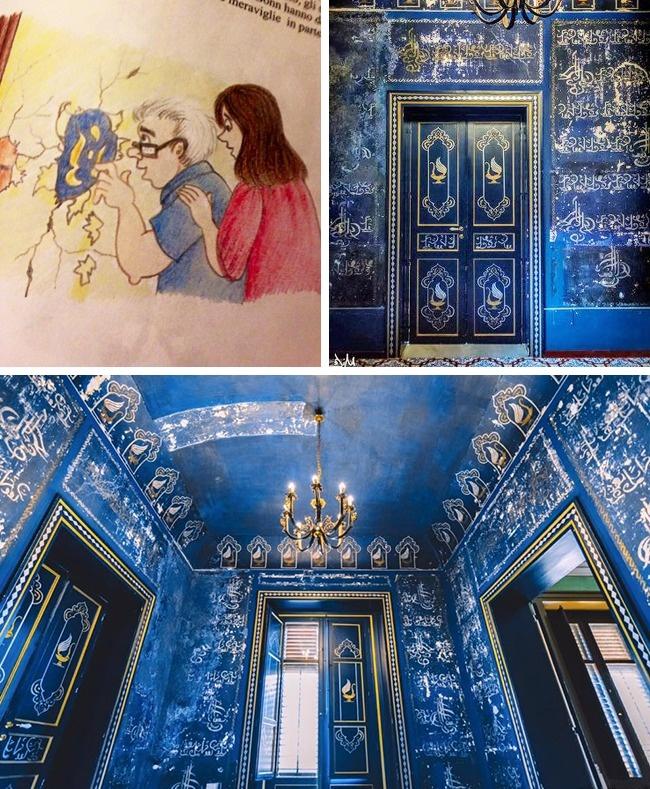 """Thấy lớp sơn màu xanh dưới tường khi sửa nhà, cặp vợ chồng tò mò cạo ra xem thì khám phá cảnh tượng choáng ngợp, kho báu đúng là """"từ trên trời rơi xuống"""" - Ảnh 4."""