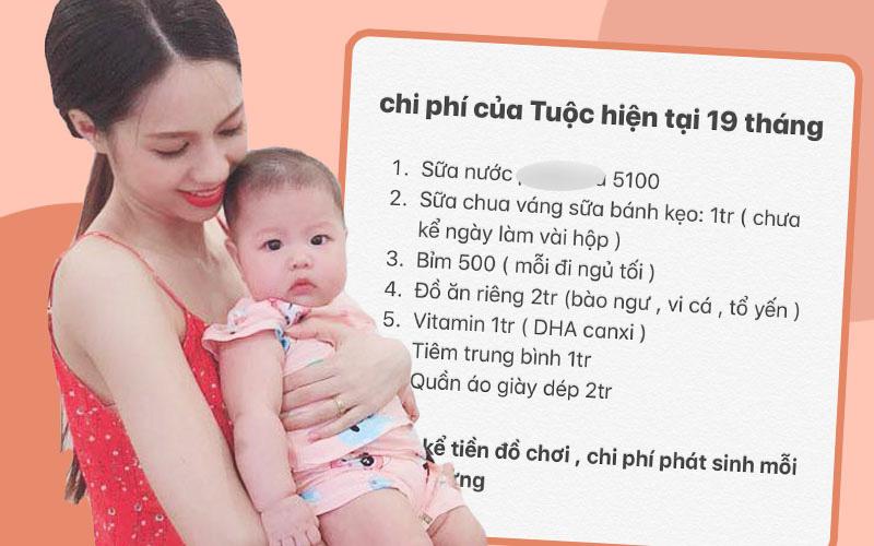 Mẹ Hà Nội gây choáng với bảng chi phí nuôi con hết gần 13 triệu/tháng, riêng tiền ăn cũng ngang cả một gia đình