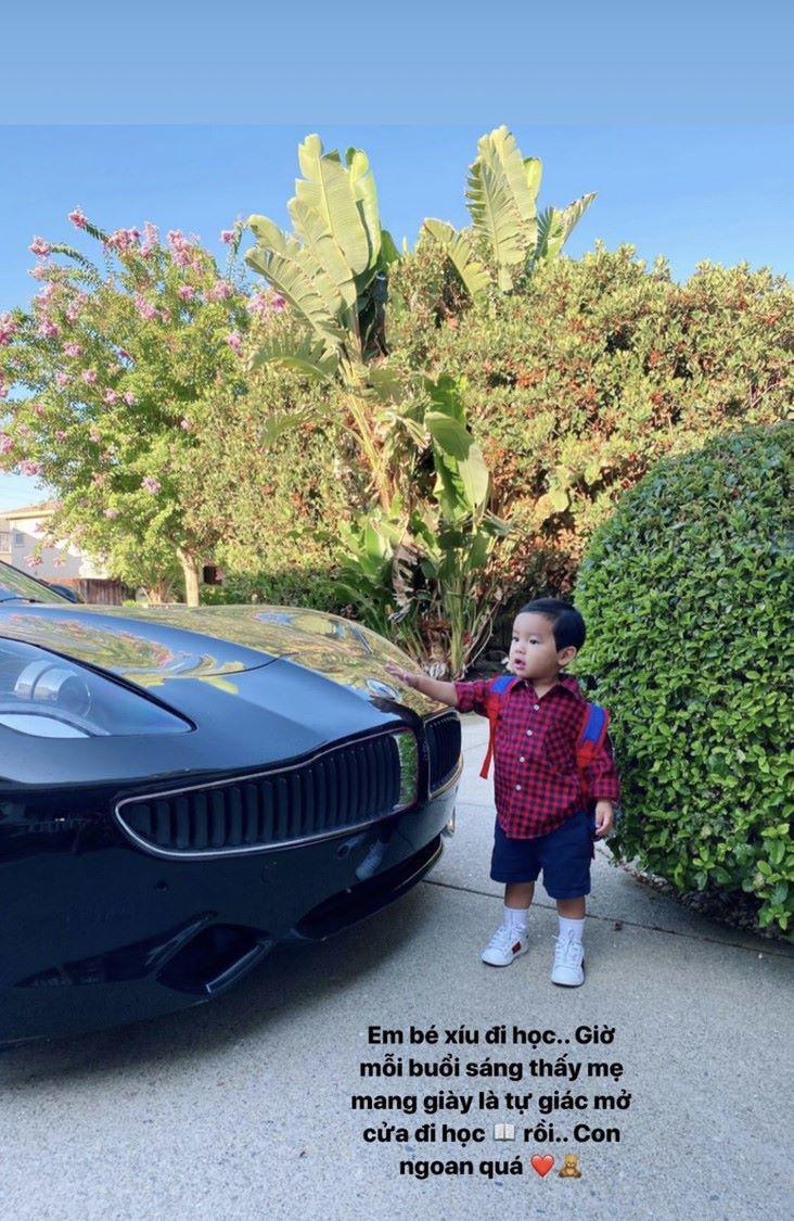 """Phạm Hương khoe cho con trai 19 tháng tuổi đi học mẫu giáo ở Mỹ, dân tình """"bán tín bán nghi"""" kháo nhau: Hình như có gì đó sai sai"""