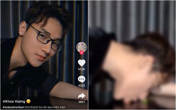 """""""Nam vương thều thào"""" trên TikTok vừa ra video ăn kẹo trên bàn khiến dân mạng bức xúc vì nội dung hết """"bad boy"""" nay ngày càng phản cảm"""