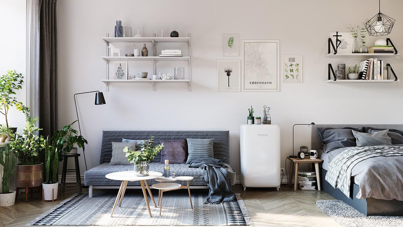 Đừng bỏ qua những ý tưởng này nếu bạn đang có dự định thiết kế một căn hộ studio nhỏ - Ảnh 2.