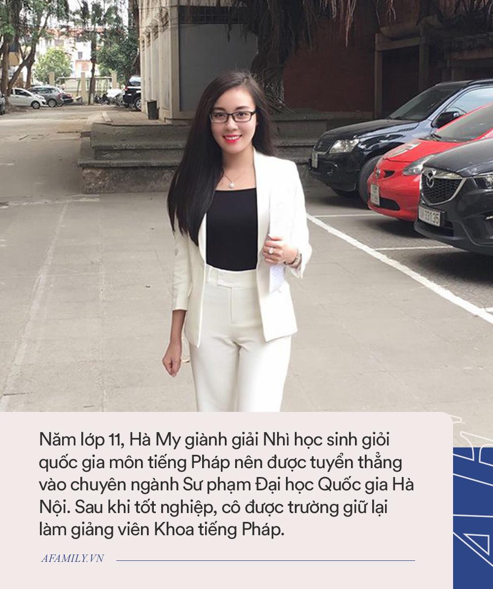 Chân dung Âu Hà My - người vợ hot nhất MXH lúc này: Giảng viên đại học quốc gia, có bằng Thạc sĩ và nói tiếng Pháp như gió - Ảnh 3.