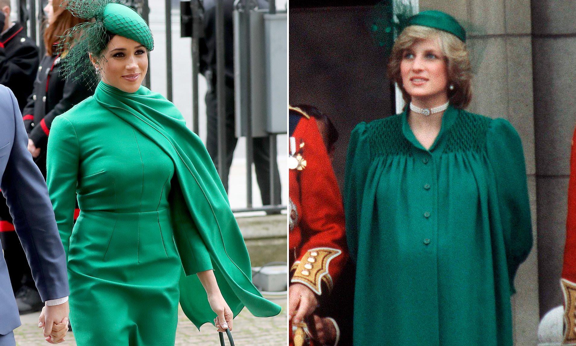 """Meghan Markle bị tố cố tình bắt chước mẹ chồng Diana diện """"bộ váy trả thù"""" như một cái tát vào mặt Hoàng gia Anh - Ảnh 4."""