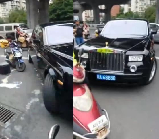Đâm trúng xe Rolls Royce, anh shipper ngồi khóc nức nở nhưng hành động sau đó của nữ tài xế mới khiến ai nấy ngỡ ngàng - Ảnh 4.