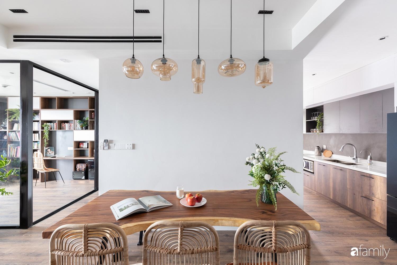 Căn hộ với chi phí phần nội thất gỗ có giá 200 triệu đồng đẹp cuốn hút theo phong cách tối giản ở Hà Nội - Ảnh 4.