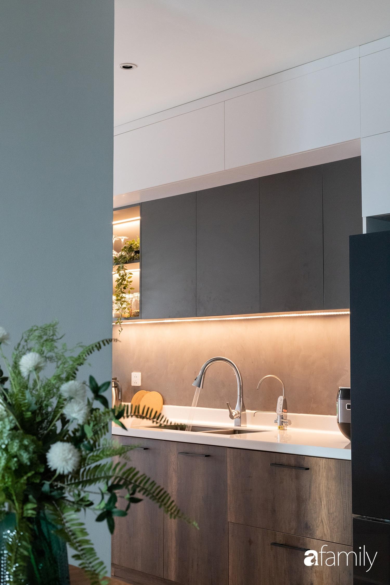 Căn hộ với chi phí phần nội thất gỗ có giá 200 triệu đồng đẹp cuốn hút theo phong cách tối giản ở Hà Nội - Ảnh 10.