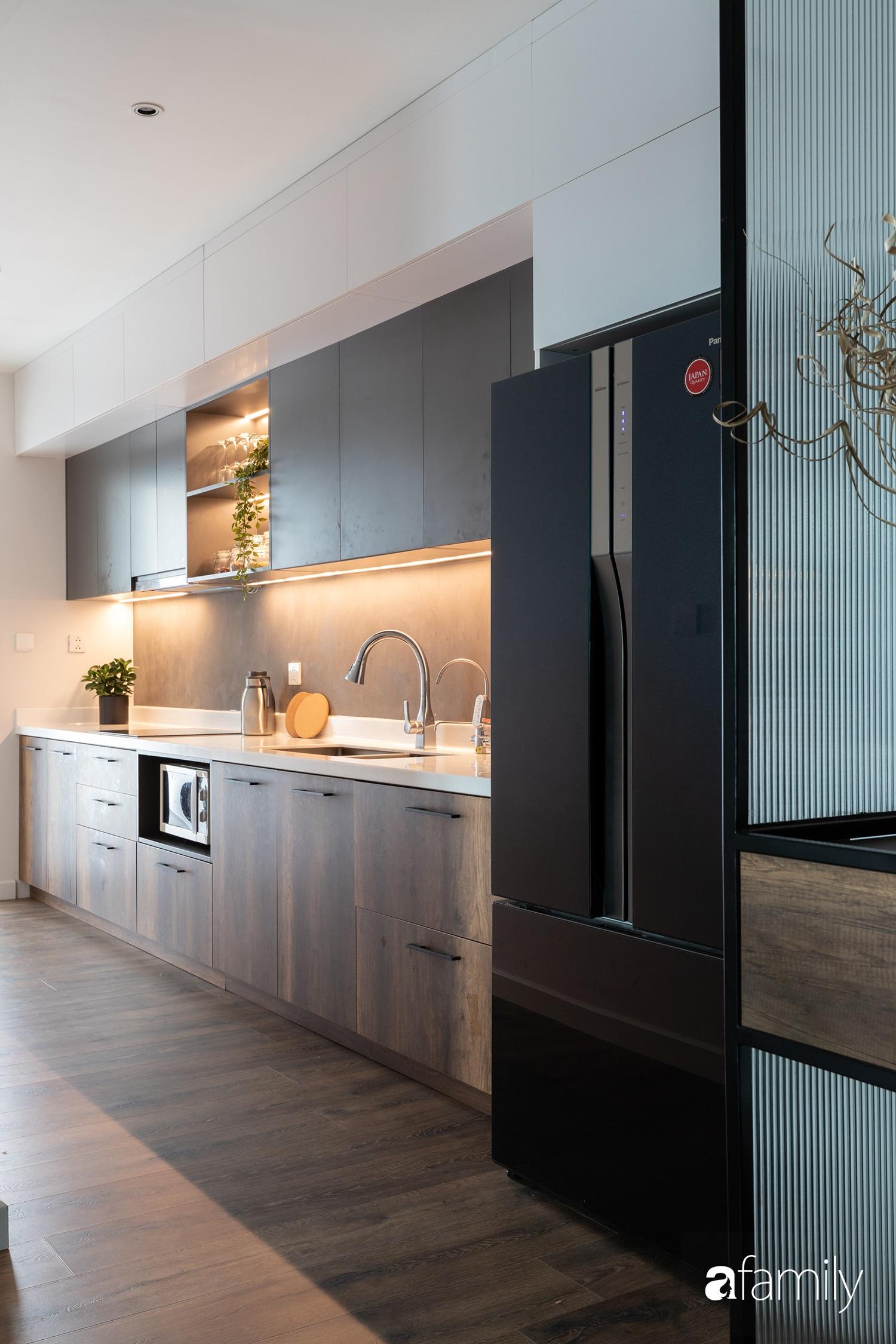 Căn hộ với chi phí phần nội thất gỗ có giá 200 triệu đồng đẹp cuốn hút theo phong cách tối giản ở Hà Nội - Ảnh 7.