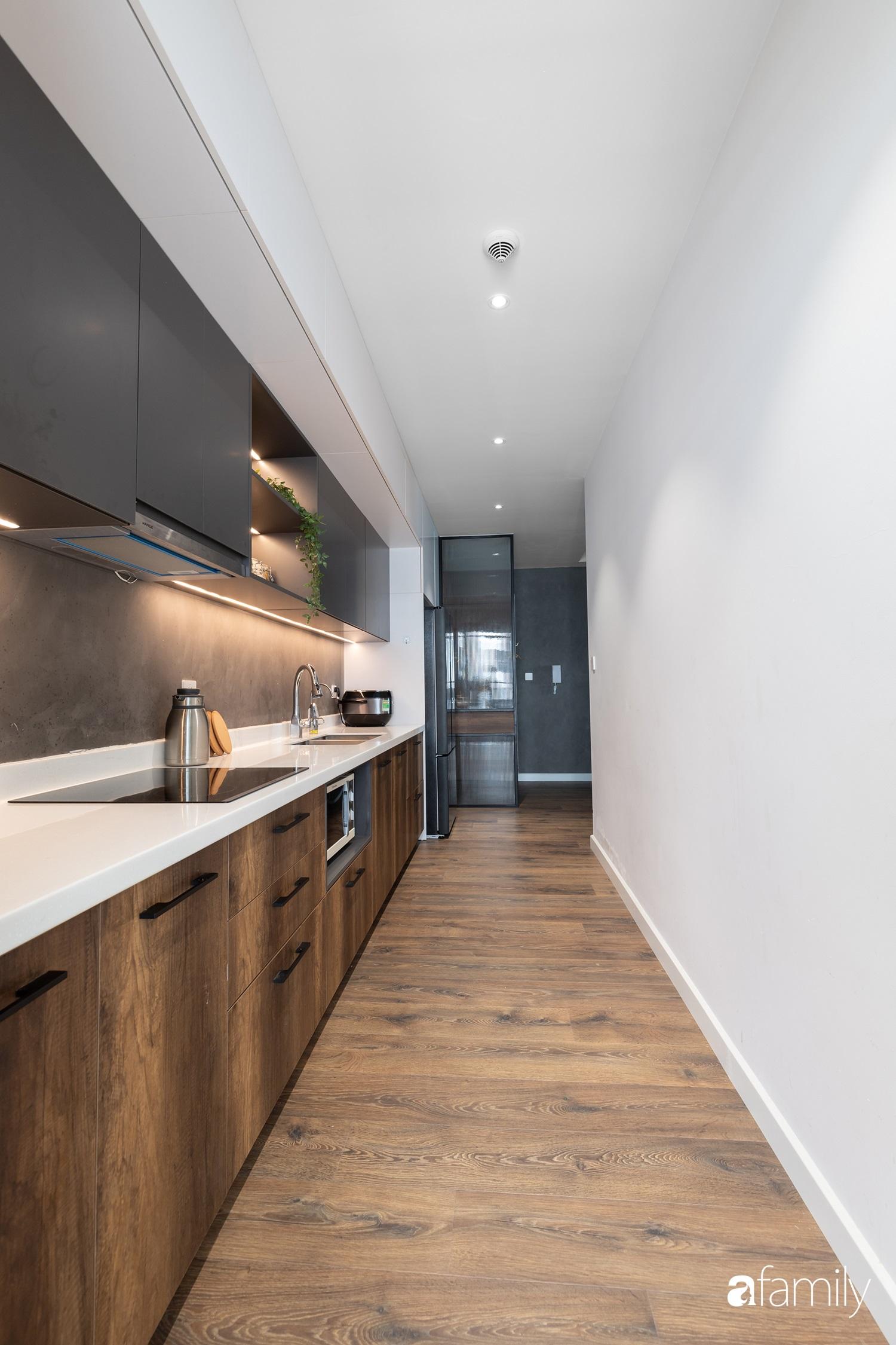 Căn hộ với chi phí phần nội thất gỗ có giá 200 triệu đồng đẹp cuốn hút theo phong cách tối giản ở Hà Nội - Ảnh 8.