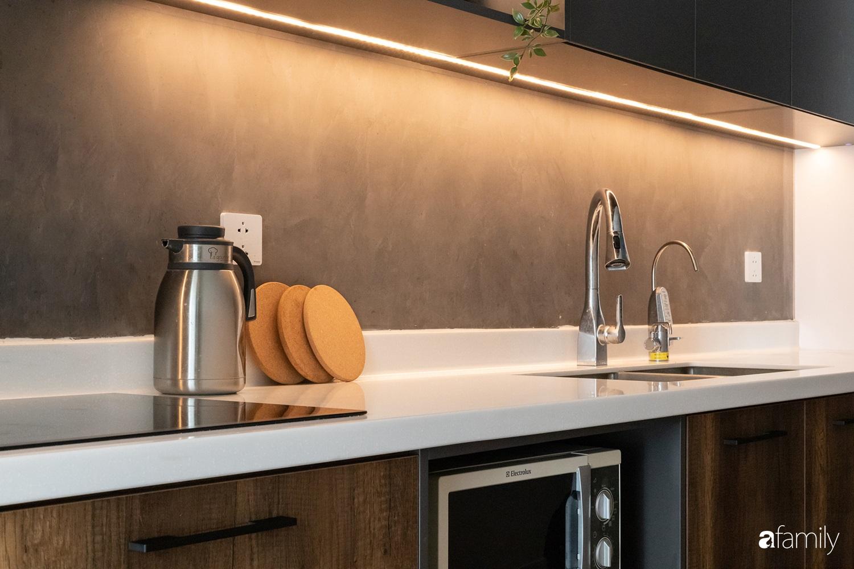 Căn hộ với chi phí phần nội thất gỗ có giá 200 triệu đồng đẹp cuốn hút theo phong cách tối giản ở Hà Nội - Ảnh 9.