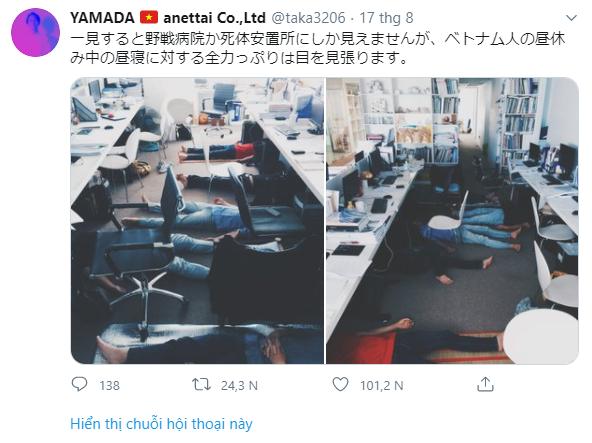 """Kiến trúc sư người Nhật hài hước nói dân công sở Việt ngủ trưa giống… """"xác chết"""", dân mạng xứ sở hoa anh đào phản ứng bất ngờ - Ảnh 1."""