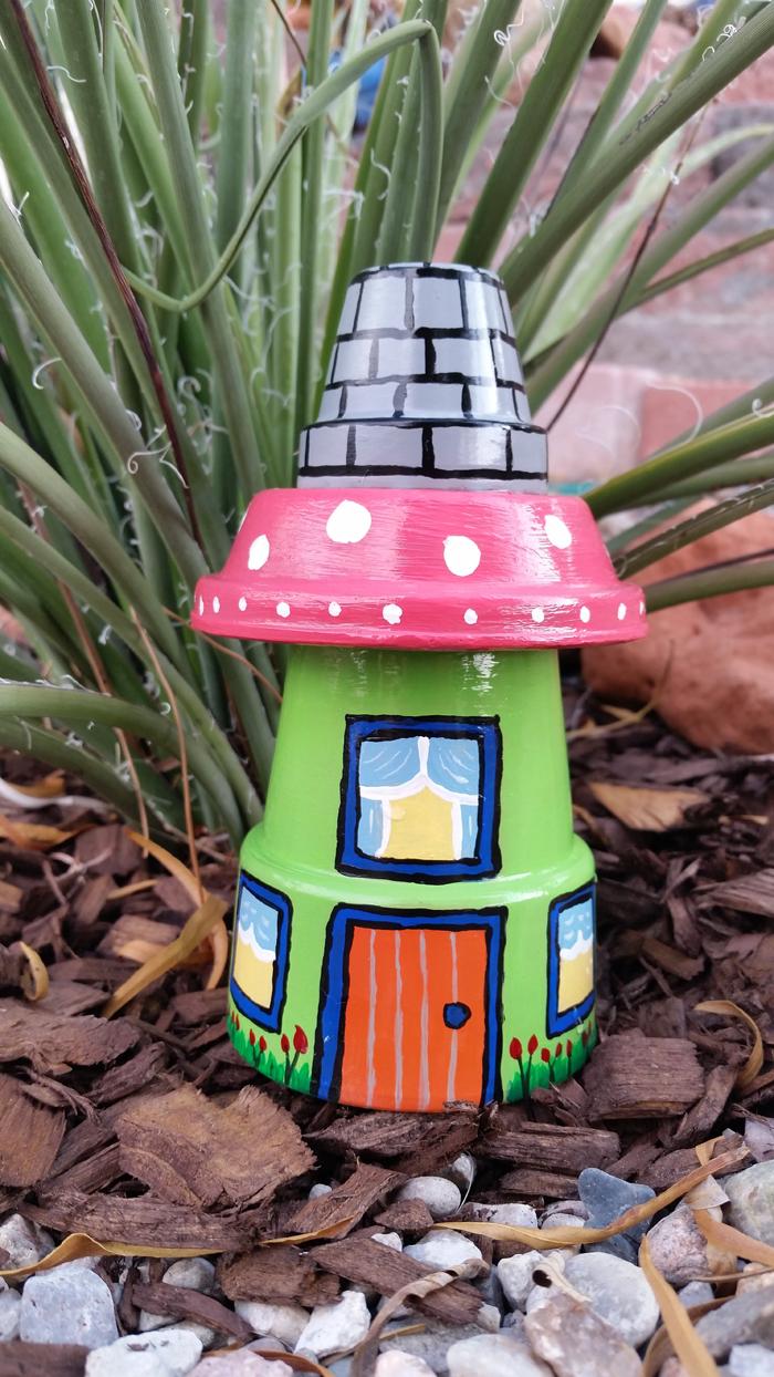 """""""Phù phép"""" chậu đất thành đồ trang trí siêu đáng yêu cho vườn nhà, cách làm vừa rẻ vừa đơn giản - Ảnh 4."""