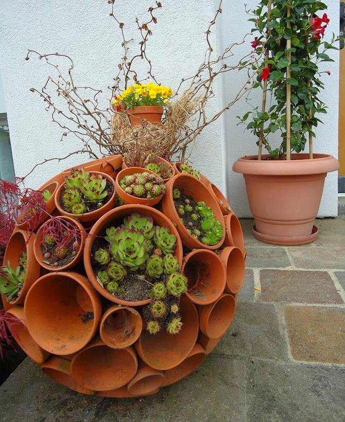 """""""Phù phép"""" chậu đất thành đồ trang trí siêu đáng yêu cho vườn nhà, cách làm vừa rẻ vừa đơn giản - Ảnh 6."""