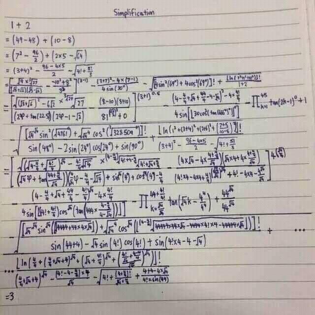 Chỉ vài dòng ngắn ngủi nhưng nhà toán học này giải đáp đề bài tréo ngoe