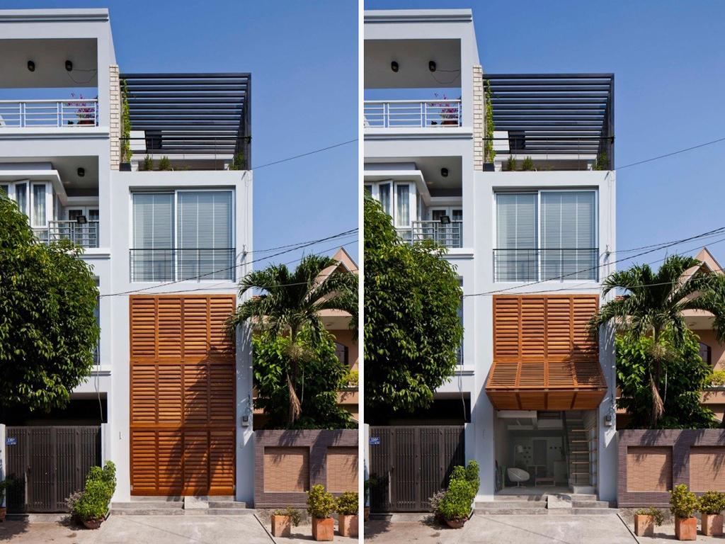 Sài Gòn: Nhà ống 68m² vẫn đẹp ngất ngây với mặt tiền cửa chớp - Ảnh 2.