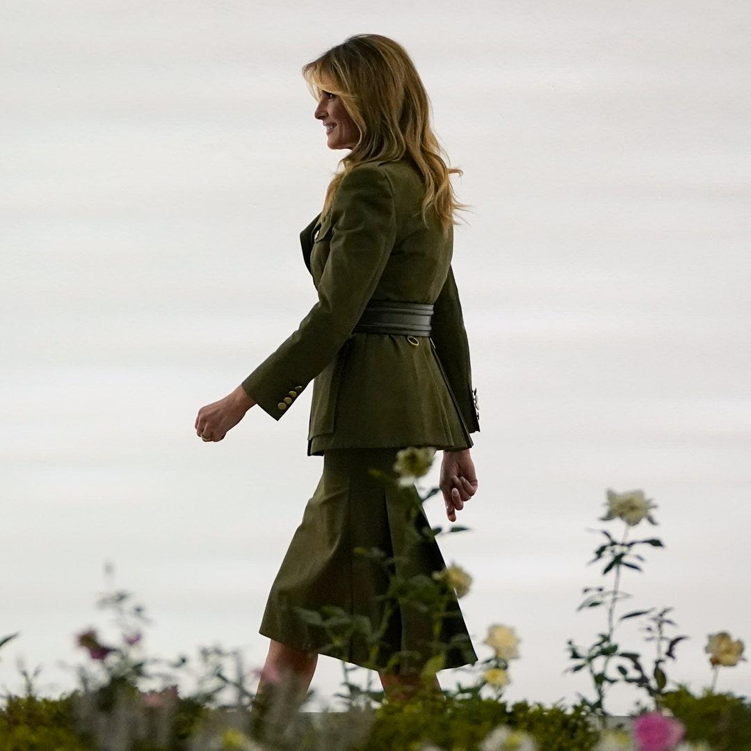Bước sang tuổi 50, bà Melania Trump vẫn lấn lướt chân dài 18 tuổi về độ sang chảnh khi cùng diện váy hiệu - Ảnh 2.
