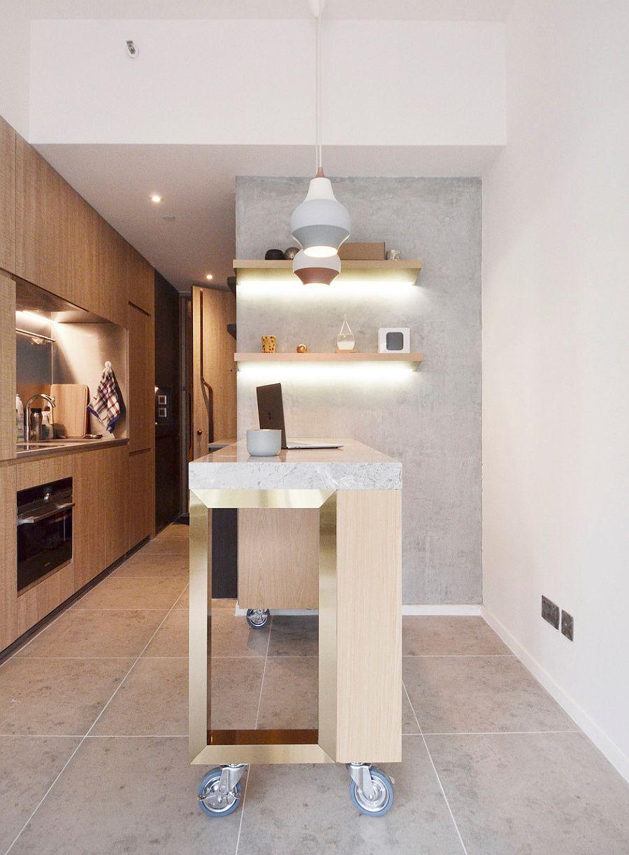 Muôn kiểu chiếu sáng độc đáo và hiệu quả dành cho những căn bếp nhỏ - Ảnh 9.