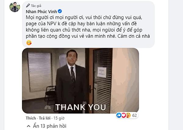 Nhan Phúc Vinh lên tiếng nhắc nhở anti-fan của Linh trong Tình Yêu Và Tham Vọng: Vui thôi đừng vui quá! - Ảnh 4.