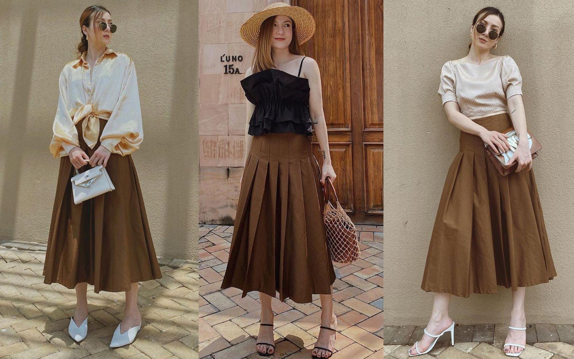 Chỉ với 3 kiểu chân váy mà Yến Trang và Yến Nhi chế được bao set đồ siêu sang, chị em cần gì sắm nhiều cho tốn kém