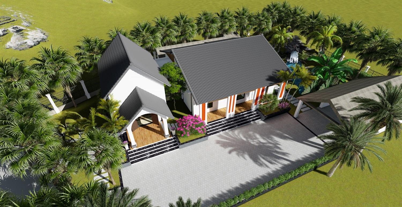1 15987998996841909141388 - Con trai xây nhà vườn bên đồng lúa xanh mát tặng bố mẹ an hưởng tuổi già ở Vĩnh Phúc